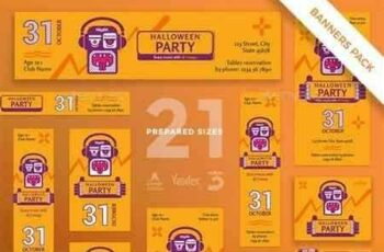1812364 Halloween Party Banner Pack 20635501 3
