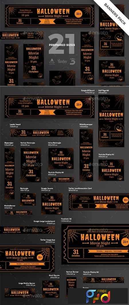 1812366 Halloween Party Banner Pack Template 20599481 1