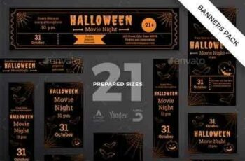 1812366 Halloween Party Banner Pack Template 20599481 2