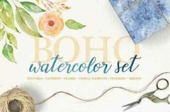 Boho watercolor set 2915774 5