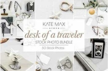 Desk of a Traveler Stock Photo Bundle 2898227 2