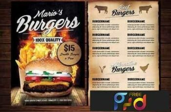 Food Burger Menu Flyer 2801410 3