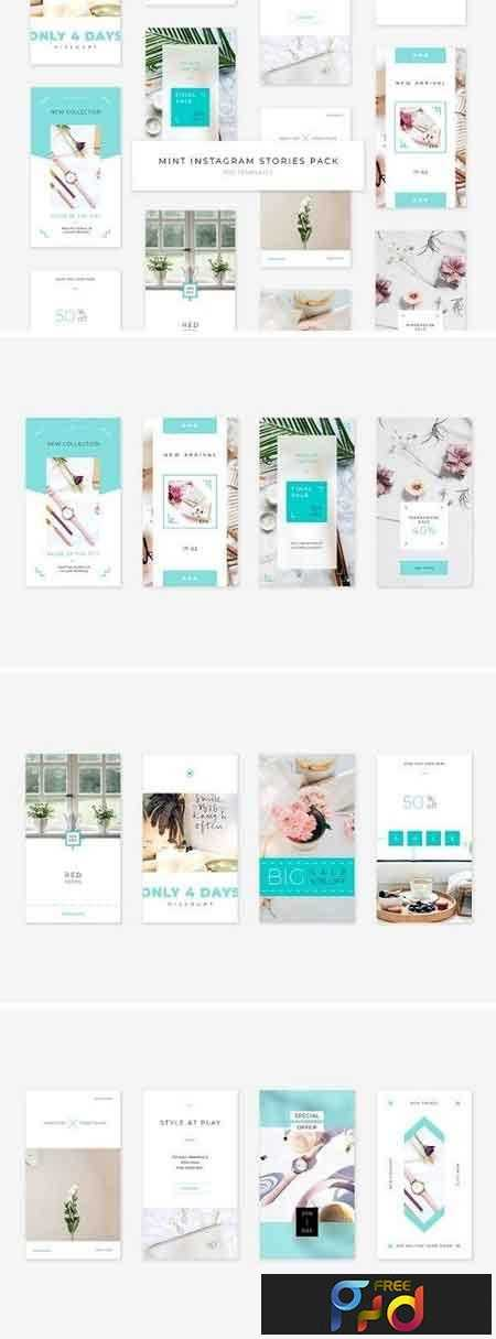 Mint Instagram Stories Pack 2900427 1