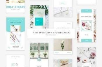 Mint Instagram Stories Pack 2900427 2