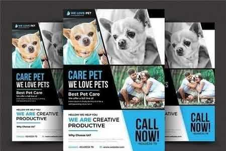 Pet Shop Flyer Template 2906712 Freepsdvn