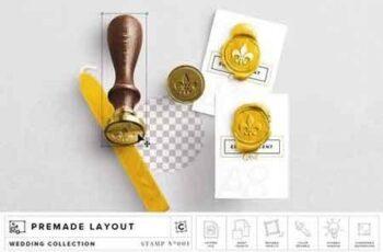 Wax Stamp & A8 Card Mockup 2763447 5