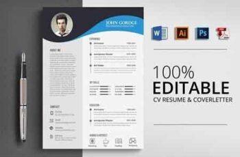 Clean Ms Word CV Resume Template 2862488 3