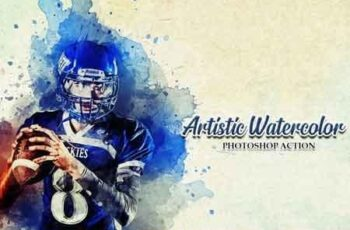 Artistic Watercolor Photoshop Action 2576709 6