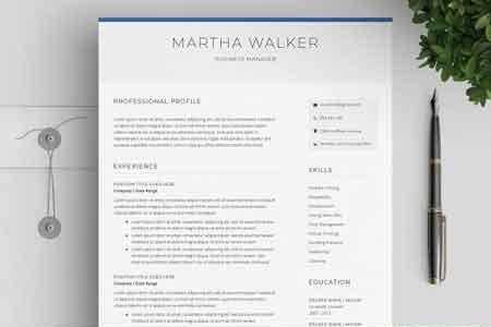 Resume Cover Letter CV Template 2652289 FreePSDvn