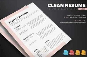 Clean Resume Template Vol.5 628694 6