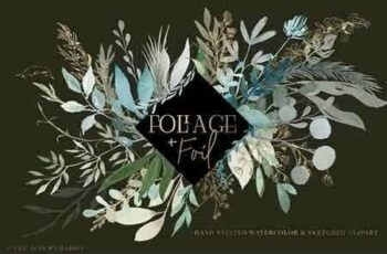 Foliage + Foil - Botanical Clipart 2923950 4