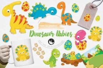 Dinosaur Babies Graphics and Illustrations 14670 4