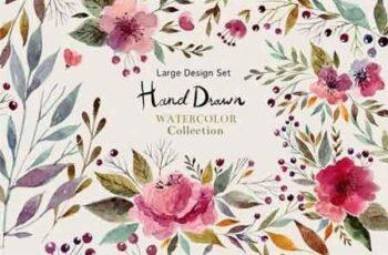 Hand Drawn Watercolor Set 1177832 5