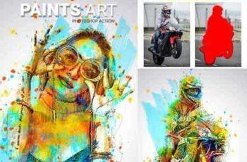 Paints Art Photoshop Action 22630125 5