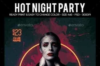 Hot Night Party Flyer 22551581 8