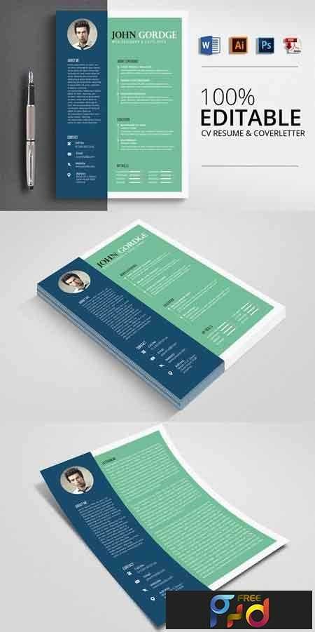 Job CV Resume Word Template 2862505 1