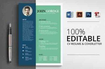 Job CV Resume Word Template 2862505 8