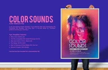 Color Sounds Party Flyer 2873319 8