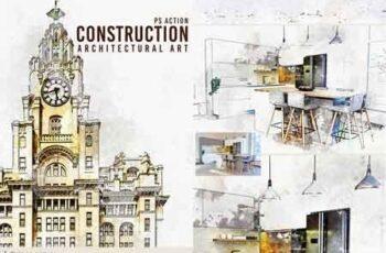 Construction - Architectural Art Photoshop Action 22620889 5