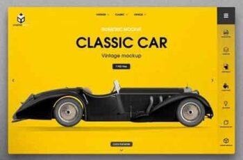 Vintage Classic Car Mockup 2935755 3