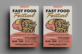 Fast Food Flyer Design Bundle 7