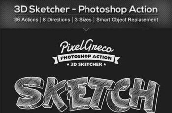 3D Sketcher - Photoshop Action 22510138 2
