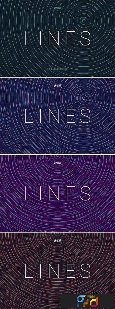 Lines Abstract Colorful Twirl Backgrounds 1