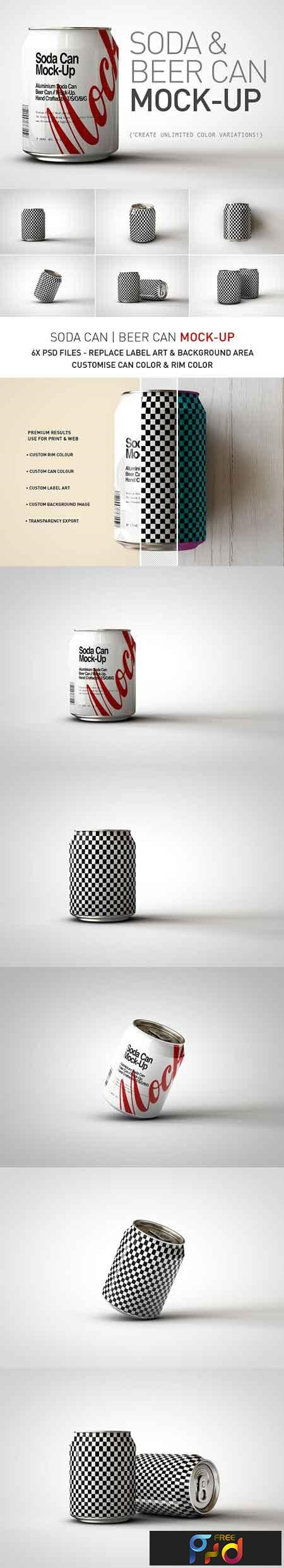 Mini Soda Can Beer Can Mock-Up V3 2895657 1