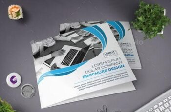 Blue Square Tri-fold Brochure 22588387 7
