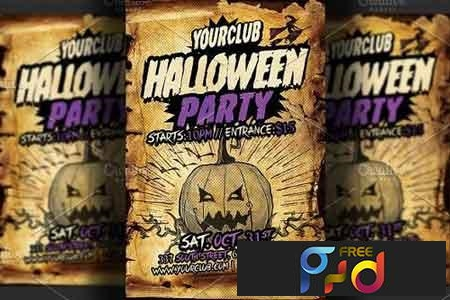 Halloween Party Flyer Template 2833685 1