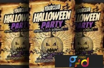 Halloween Party Flyer Template 2833685 7