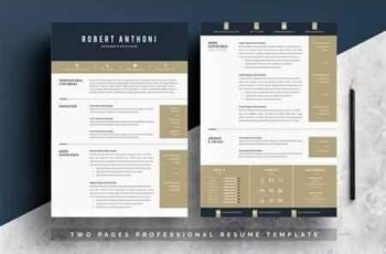 Word Resume Temlate 4 Pages Pack 2735781 4