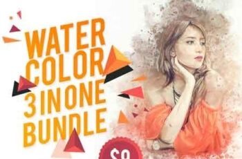 WaterColor 3 IN 1 Bundle Photoshop Action 22618267 3