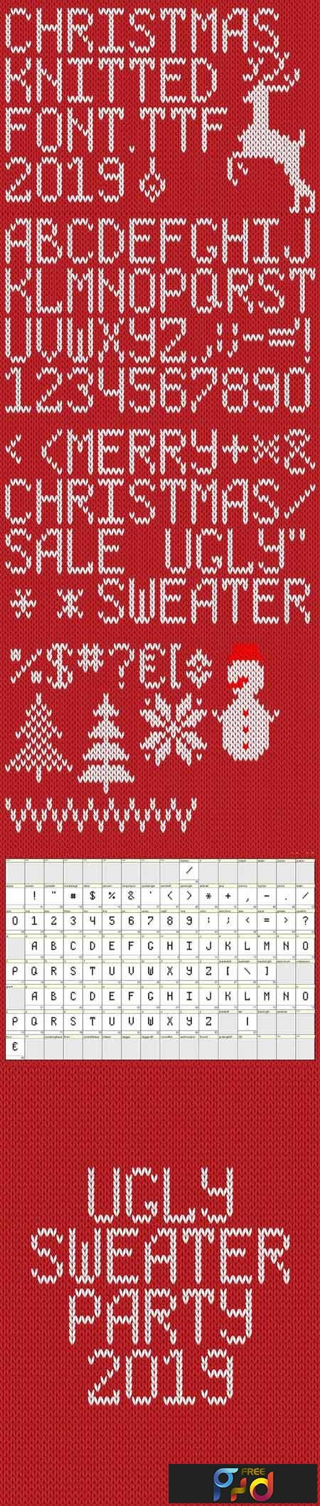 Christmas Knitted Font Ol Version 2.0 2981888 1