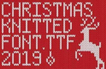 Christmas Knitted Font Ol Version 2.0 2981888 4