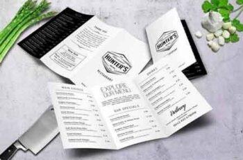 Minimal A4 Trifold Food Menu Design 6