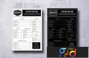 Minimal Elegant A3 Food Menu Poster 3