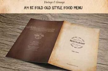 Old Style A4 Bifold Food Menu 15956806 7