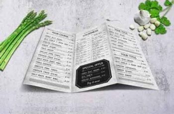 Vintage A4 Trifold Food Menu 5