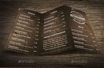 Wild Wood A4 TriFold Menu - 2 Versions 15647677 3