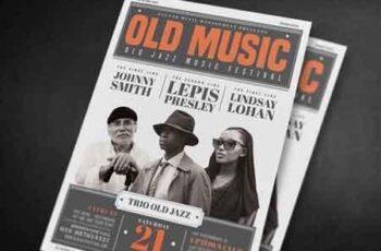 Old Vintage Music Flyer 639796 6