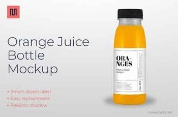 Orange juice - Bottle mockup 2954945 5