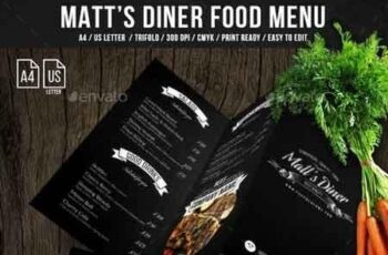 Matt's Diner Trifold A4 and US Letter Menu 21245528 3
