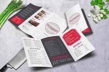 Modern Restaurant Trifold A4 Menu 3