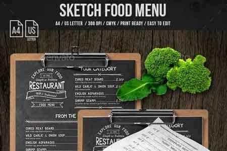 Sketch A4 and US Letter Single Page Menu 21132597 - FreePSDvn