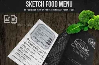 Sketch Trifold Food Menu A4 and US Letter 21239803 3