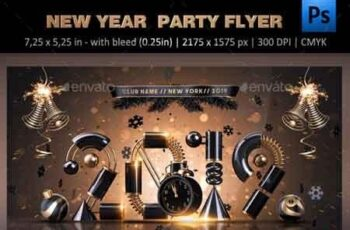 New Year Party Flyer 22652986 2