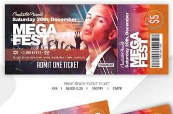 Print Ready Event Ticket 22634709 5