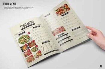 Clean & Fresh A4 & US Letter Food Menu 4