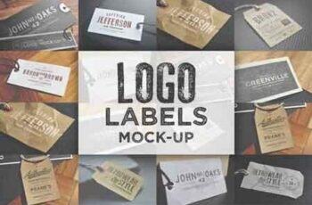 Logo Labels Mock-ups 5